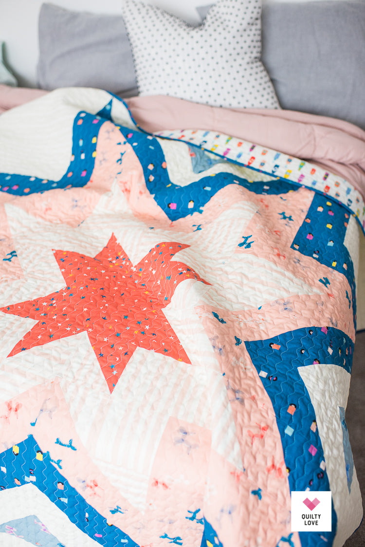 Expanding Stars Pdf Quilt Pattern Quilty Love