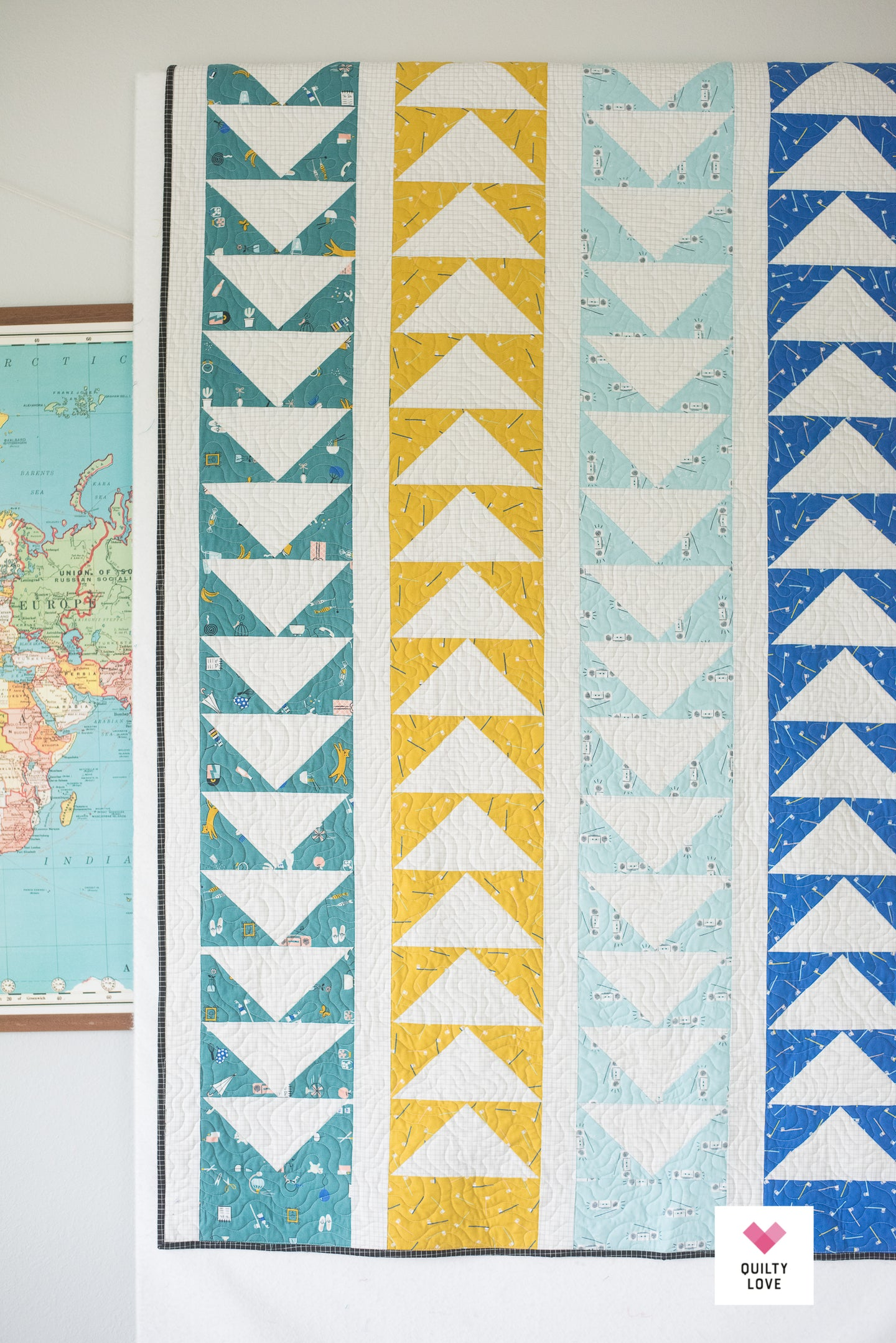Flying throw Quilt