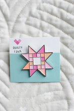 Quilty Stars Enamel Pin - Quilty Love