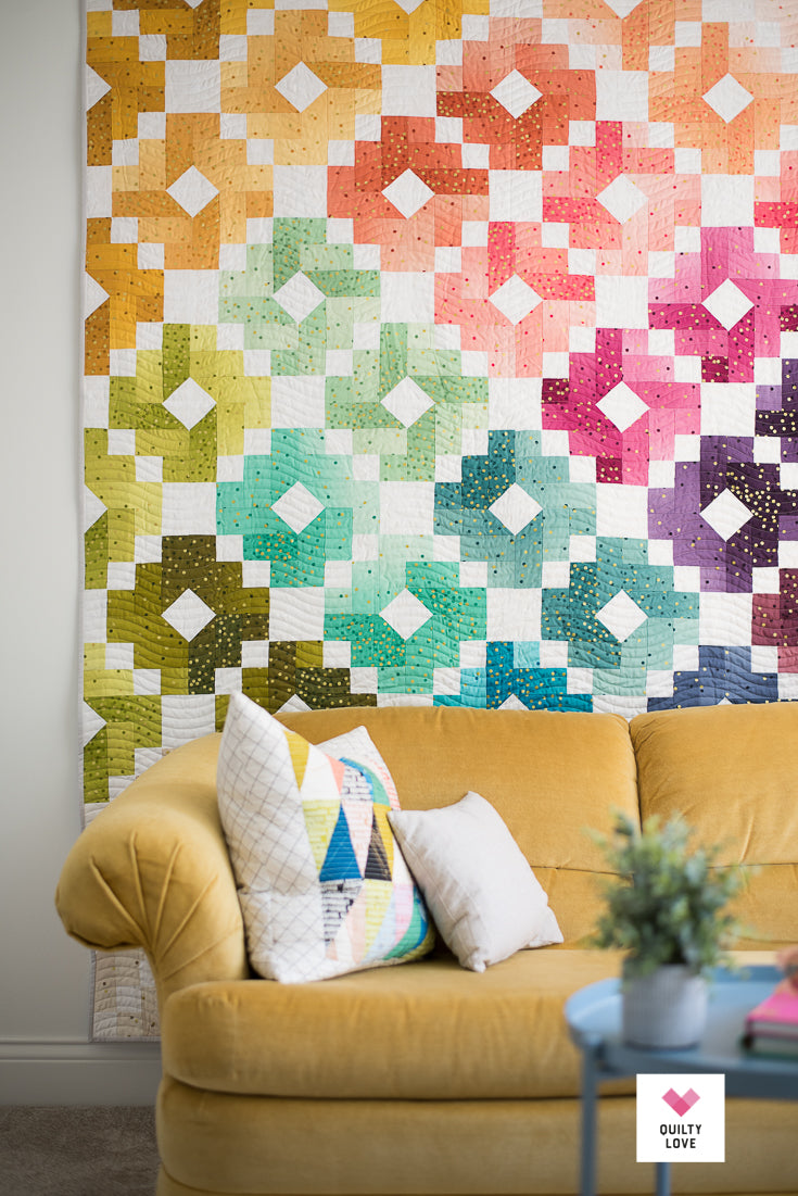 Ombre Gems PDF quilt pattern – Quilty Love