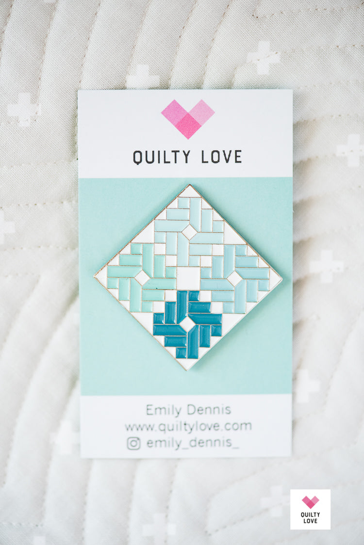 Ombre Gems Enamel Pin - Quilty Love