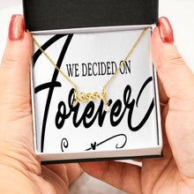 "Scripted ""Love"" Necklace with a Cubic Zirconia, Brilliant Shine ""We Decided On Forever"""