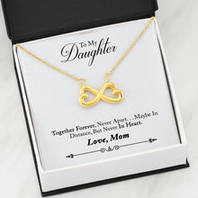 Artisan Crafted, Heart Shaped, Infinity Symbol, Pendant Necklace, From Mother to Daughter