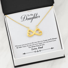 Artisan Crafted, Heart Shaped, Infinity Symbol, Pendant Necklace, To Daughter From Dad, Gift for Daughter, Always Here For You