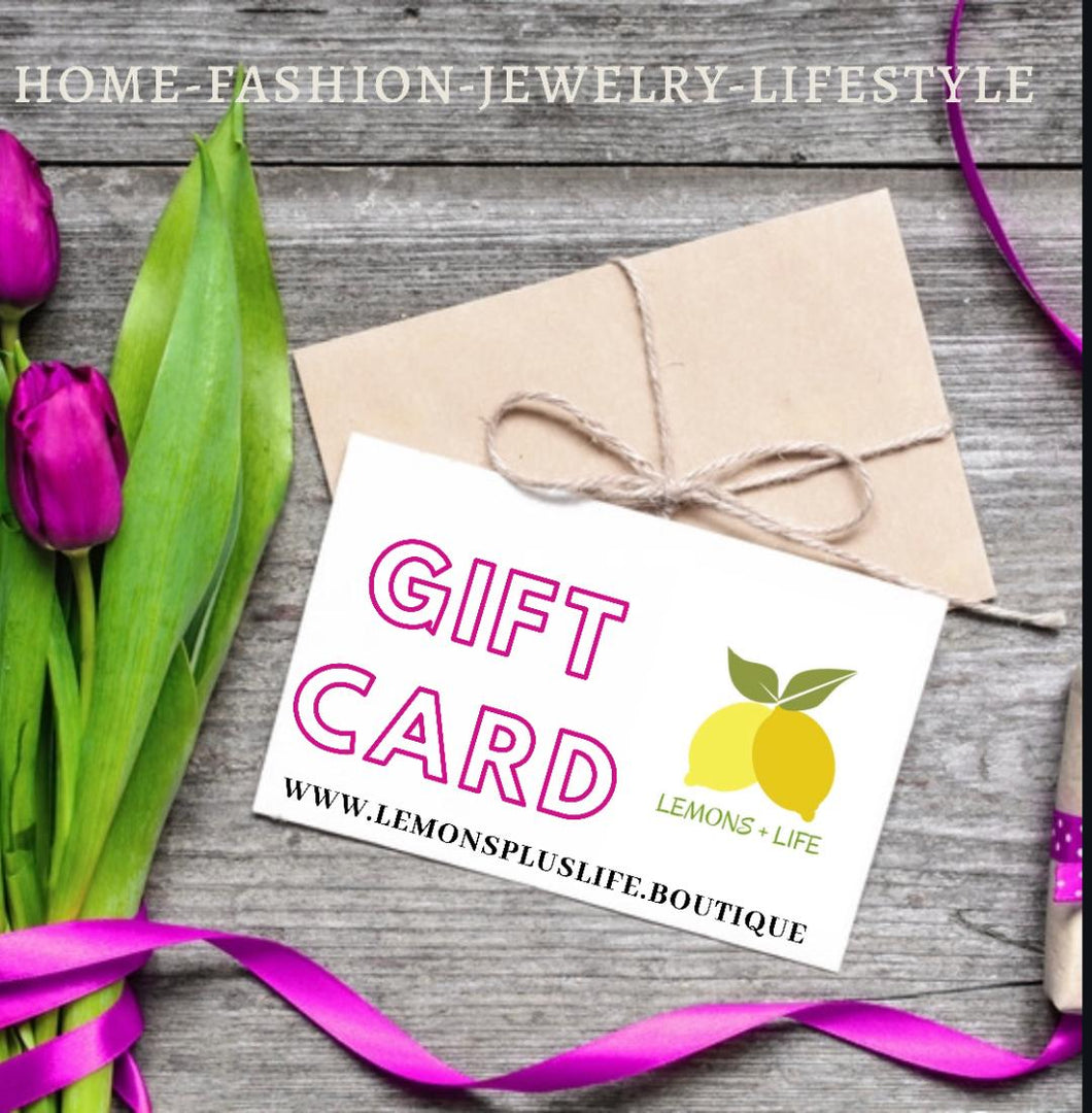 Gift Card, Lemons Plus Life Boutique