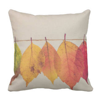 Throw Pillow Autumn Leaves On A String
