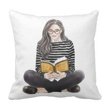 Throw Pillow Reading