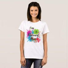 "Women's, Paint Splatter, T-shirt ""I'm a Blessed Mess"""