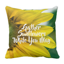 Throw Pillow Gather Sunflowers