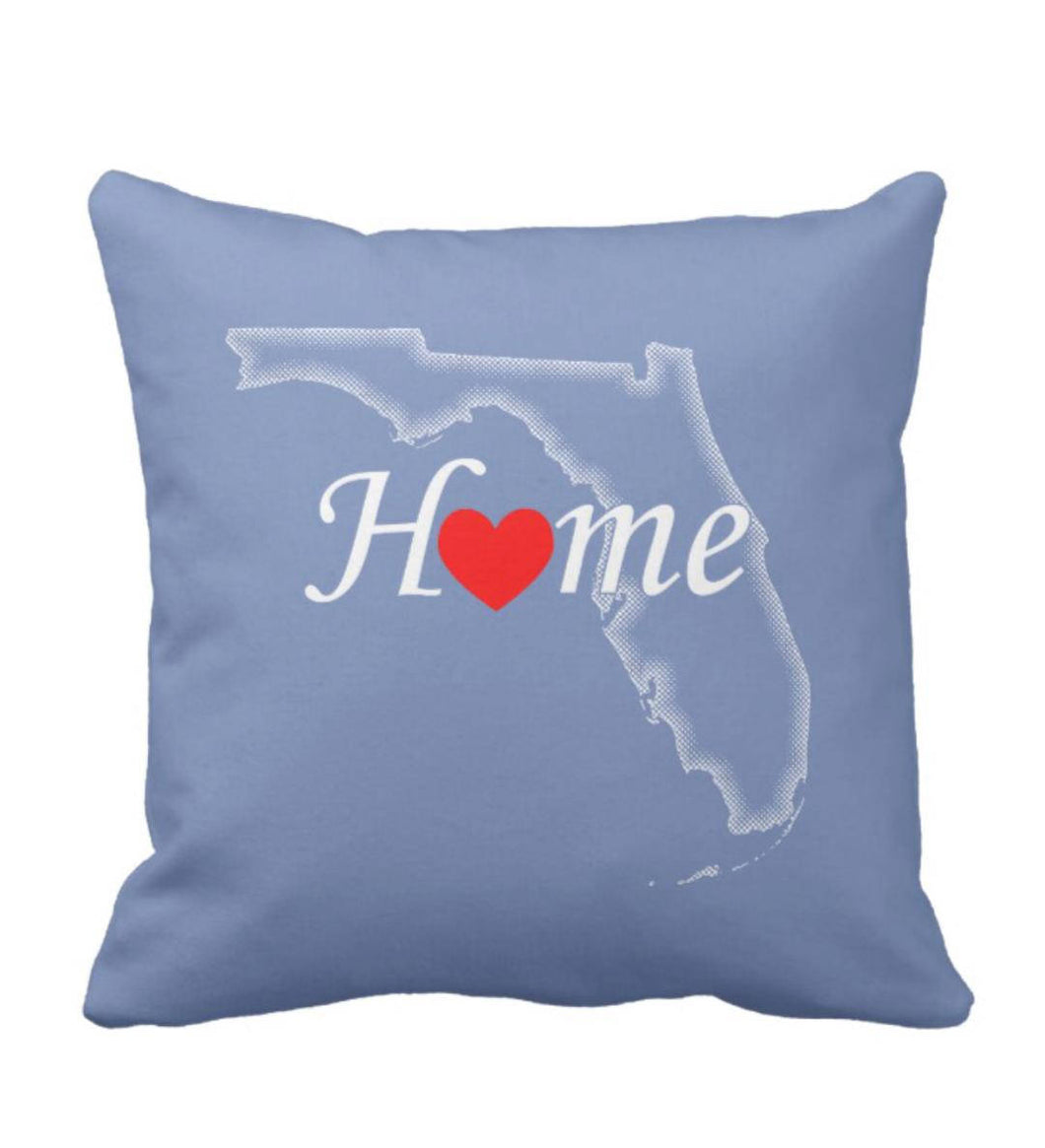 Throw Pillow Florida Home Love