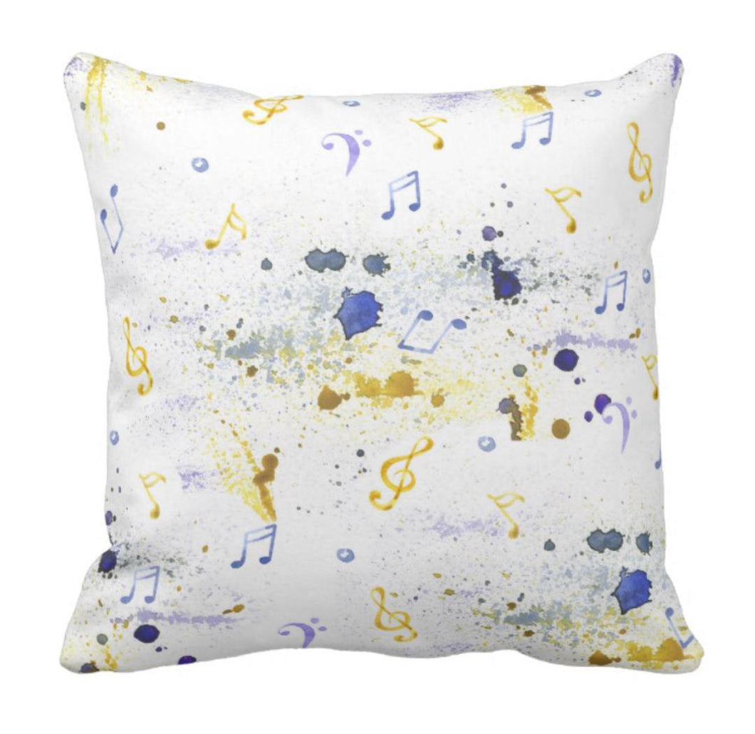 Musial Throw Pillow Watercolor Blue