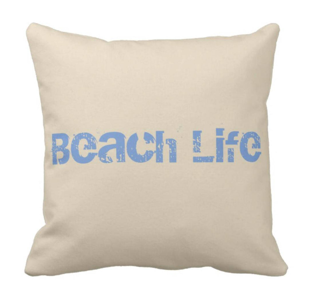 Throw Pillow Beach Life