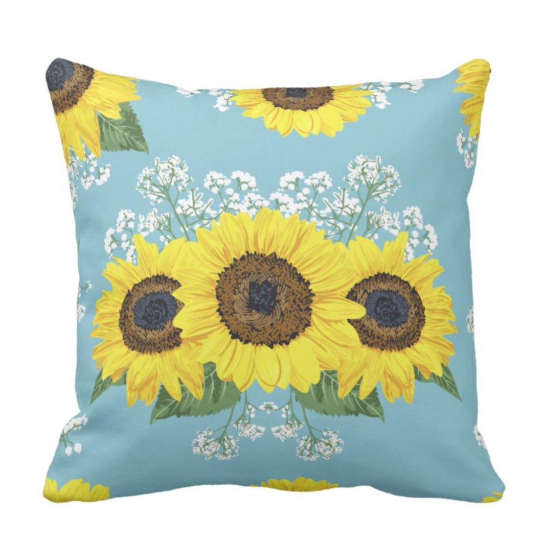Prairie Sunflower Throw Pillow