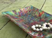 Fire Dancer Decorative Glass Tray