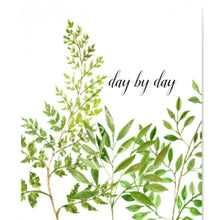 "Watercolor Botanical Art Typography Print ""Day By Day"" 8 X 10"