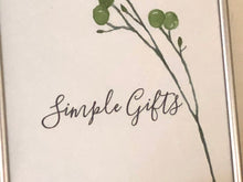 8 X 10 Watercolor Botanical Typography Art Print Simple Gifts