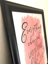 Typography Print- Peach- White- She Was Beautiful