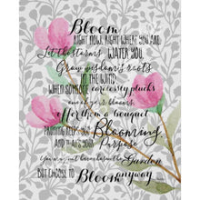 Bloom Anyway Quote Floral Pink and Grey Typography Art Print