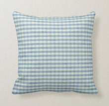 Gingham Throw Pillow, Shabby Chic, Blue Gingham, Picnic Check, Blue Pillow, Summer, Pillow