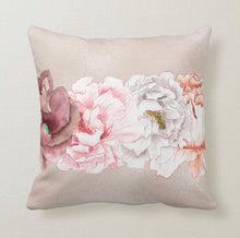 Throw Pillow, Floral Blooms,  Cottage Style, Lavender, Watercolor, Vintage Floral, Pearl, Floral Romance Pillow