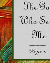 "Print ""The God Who Sees Me"" Oil Texture, Religious, Hagar, Bible Verse, Quote, Poster"