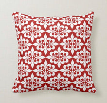 Throw Pillow, Christmas, Traditional Design, Red and White, Christmas Throw Pillow