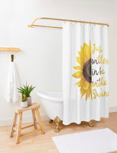 Shower Curtain, Sunflower Design, Just a Wildflower in love with the Sunshine
