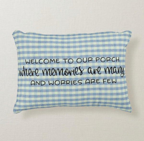 Porch Welcome Pillow