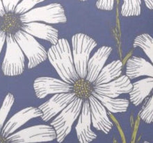 Throw Pillow, White Daisy, Blue Background, Floral Daisy Pattern Pillow