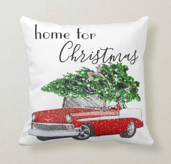 Retro Christmas Pillow, Words