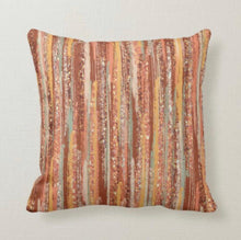 Fall Pillow, Watercolor Strokes, Blush, Yellow, Mint Green, Pillow and Cover, Earth Tones, Autumn Home Decor