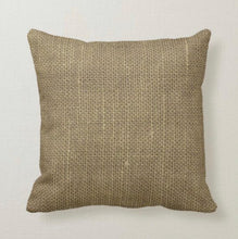 "Rustic Pillow, French Grain Sack Design, Burlap Design, ""Grains Sac de No 4 Aix Les Bains"""