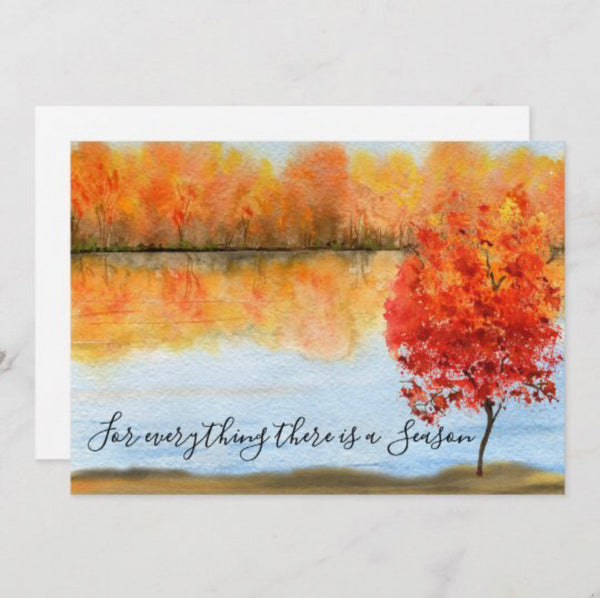 Autumn Greeting Card, Flat, Quote