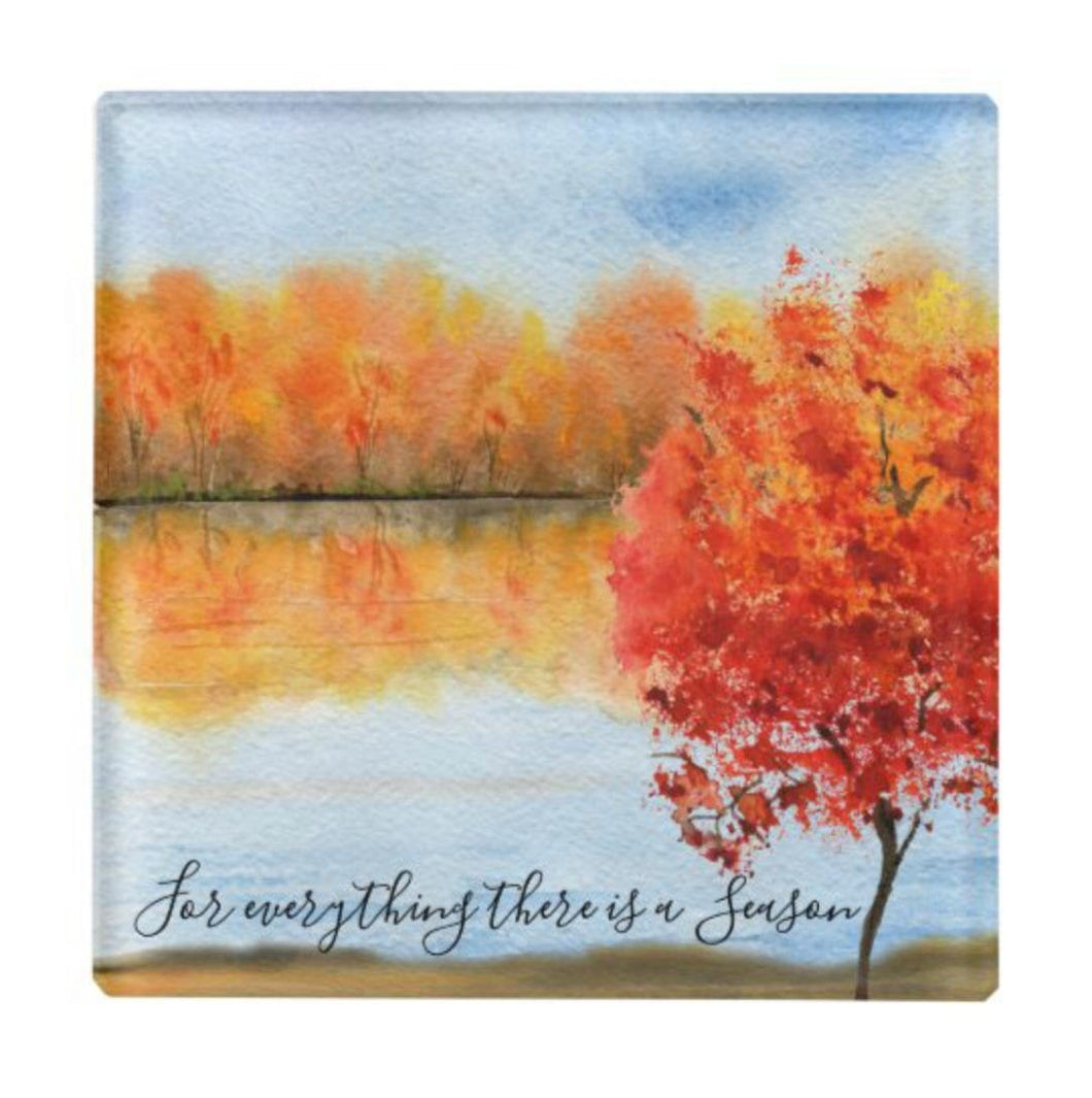 Autumn Glass Coaster, Quote