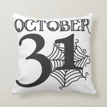 Halloween and Thanksgiving Pillow, October 31, Thankful and Blessed Fall Plaid Pillow, Fall Decor, Two Pillows in One, Pillow and Cover