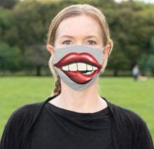 "Face Mask ""Chewing on Lips"" Big Mouth, Men and Women Funny Mask, Halloween Smile Mask"