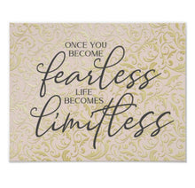 "Home Office Prints, Ready to Frame, Wall Decor ""Once You Become Fearless Life Becomes Limitless"" Home Office Wall Art"