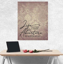 "Home Office Prints, Ready to Frame, Wall Decor ""Life is Either A Daring Adventure or Nothing At All"" Home Office Wall Art"
