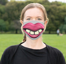 "Face Mask ""Big Teeth"" Big Mouth, Men and Women Funny Mask, Halloween Smile Mask"