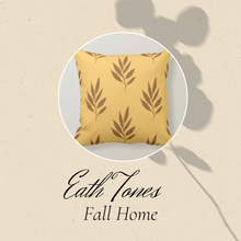 Fall Pillow, Earth Tones, Gold and Brown, Botanical Leaves, Nature Inspired Pillows, Minimalist Style, Contemporary Pillow