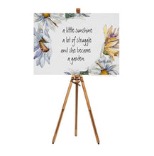 Daisy Wall Art, Quote, White Daisy, Yellow Daisy, Watercolor, Floral Poster Print
