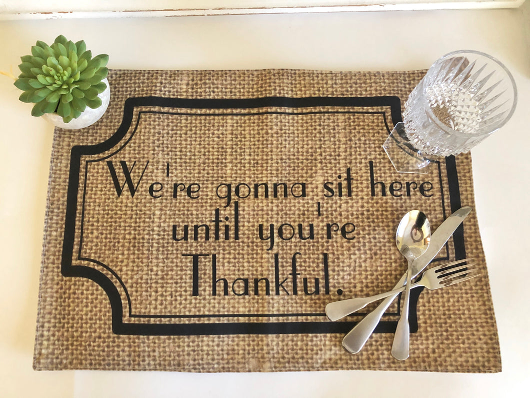 Funny Thanksgiving Placemat