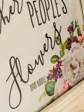 "Watercolor Floral Print, ""Sometimes I Pick Other People's Flowers"" Poster, Typography, Wall Art"