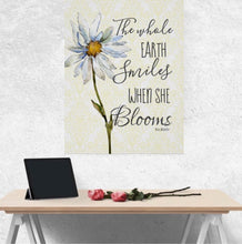 "Daisy, Wall Art, Print, ""The Whole Earth Smiles When She Blooms, Ready to Frame, Poster"