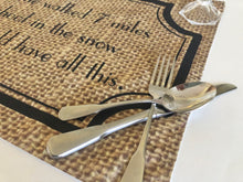 "Funny Thanksgiving Placemat ""So You Could Have All This"" Fall Cloth Placemat, Burlap Design, Fall Table Decor"