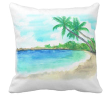 Throw Pillow Watercolor Beach