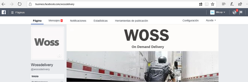 Woss Delivery Facebook Page