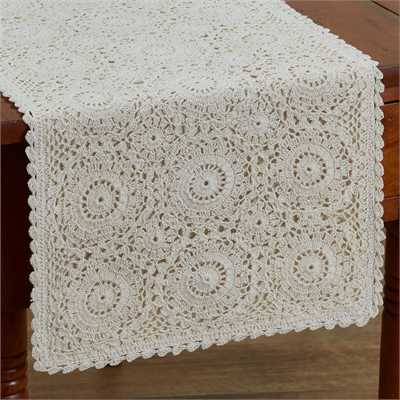 Lace Table Runner Cream - 54