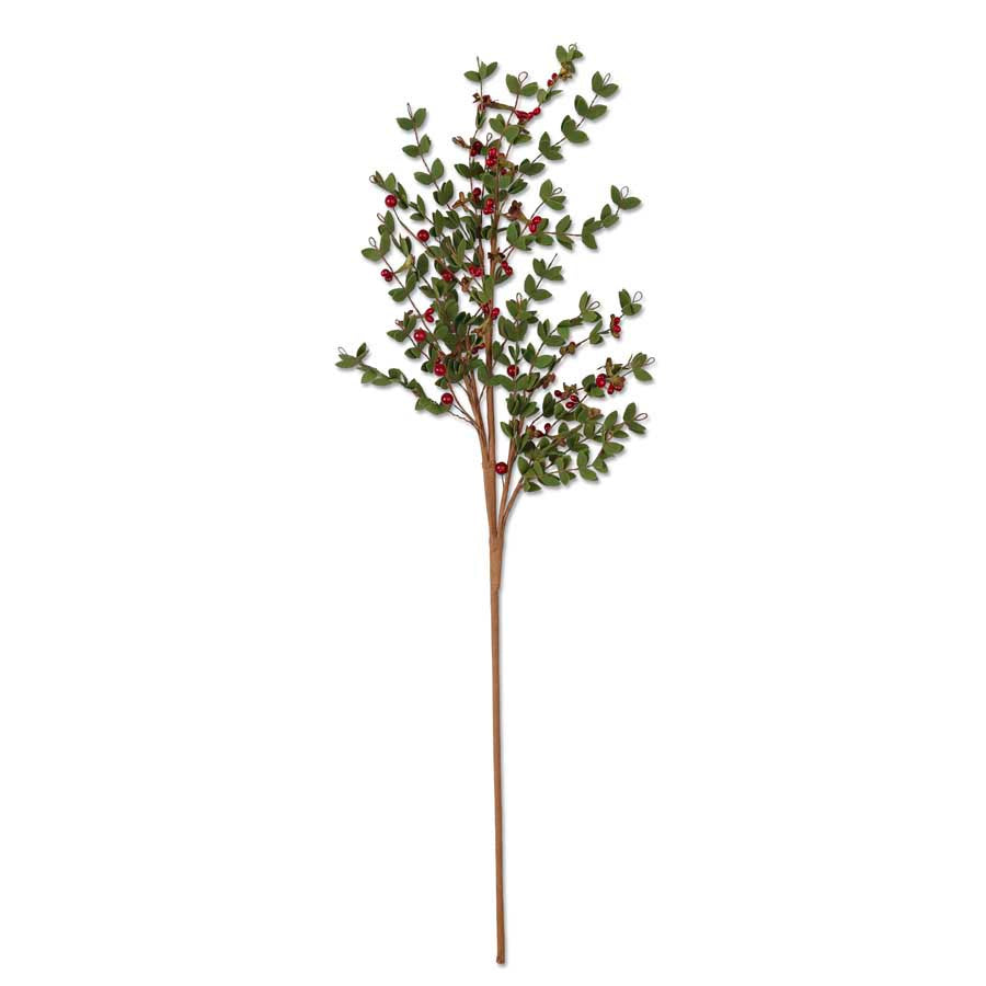 Leafy Stem with Red Berries - 30