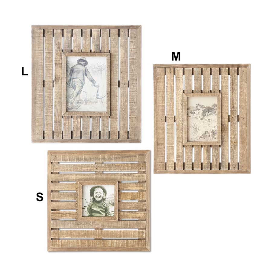 Wooden Lath Photo Frames - 3 Sizes